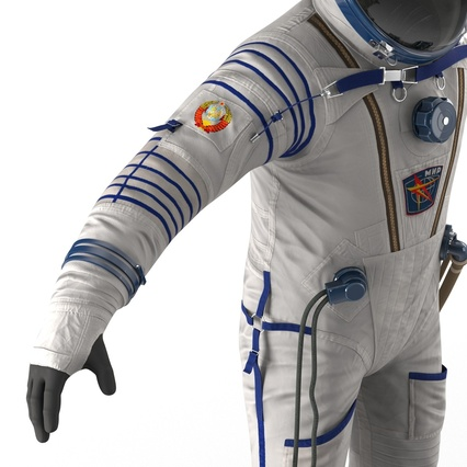 Russian Space Suit Sokol KV2 Rigged. Render 45