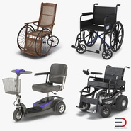 Wheelchairs Rigged Collection