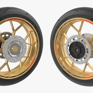 Sport Motorcycle Back Wheel. Preview 8