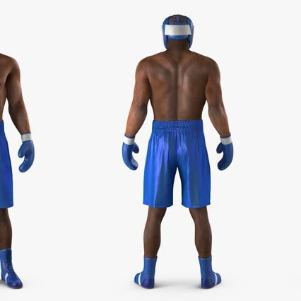 African American Boxer Rigged for Cinema 4D. Render 6
