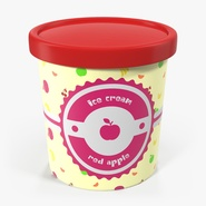 Ice Cream Pint Tub Red Apple