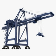 Container Crane Rigged Blue