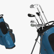 Golf Bag Seahawks with Clubs. Preview 6