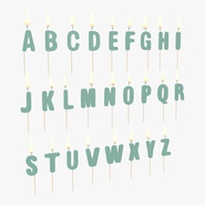 Alphabet Birthday Candles Set with Flame