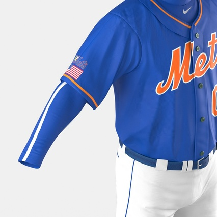 Baseball Player Outfit Mets 2. Render 26
