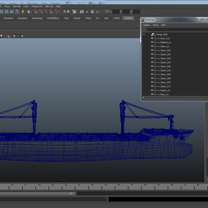 Sea Cargo Ship Generic. Render 30