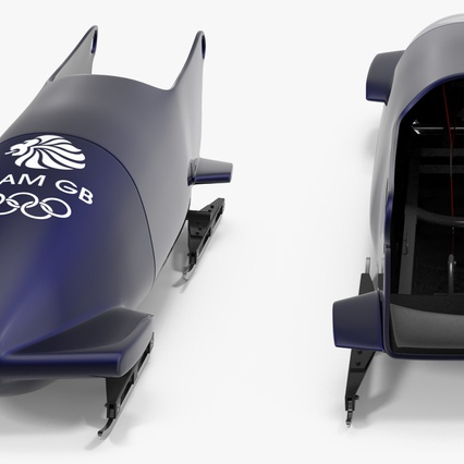 Bobsled Two Person Team GB. Render 9