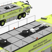 Oshkosh Striker 4500 Aircraft Rescue and Firefighting Vehicle Rigged. Preview 17