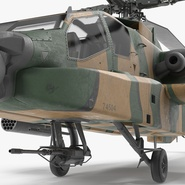 AH-64D Apache Longbow Japan Rigged. Preview 14