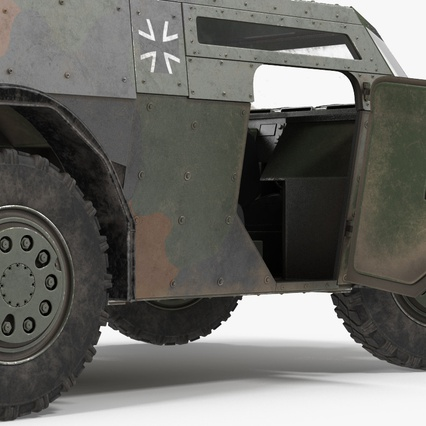 Fennek German Reconnaissance Vehicle Rigged. Render 16