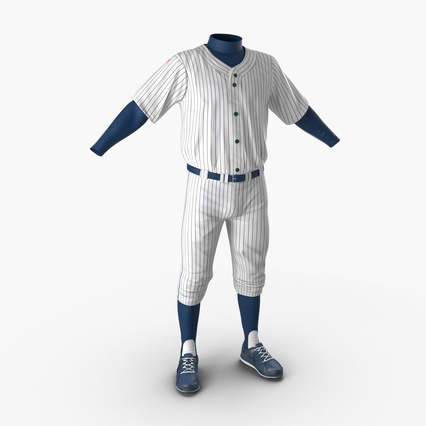Baseball Player Outfit Generic 8. Render 1