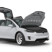 Tesla Model X Rigged. Preview 35