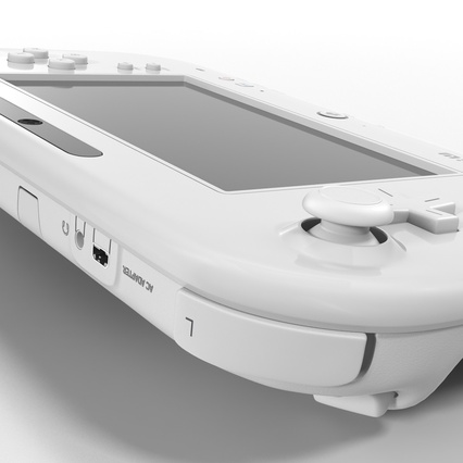 Nintendo Wii U Set White. Render 46