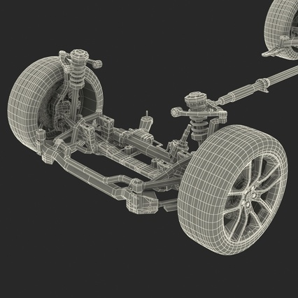 Sedan Chassis. Render 50