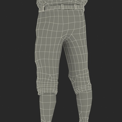 Baseball Player Outfit Athletics 3. Render 40