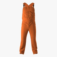Factory Worker Orange Overalls