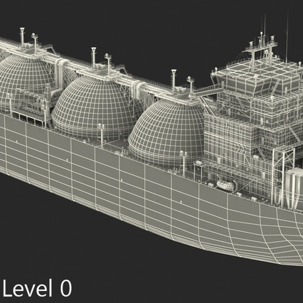 Gas Carrier Ship. Render 23