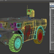 Fennek German Reconnaissance Vehicle Rigged. Preview 33