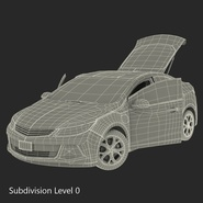 Generic Hybrid Car Rigged. Preview 70
