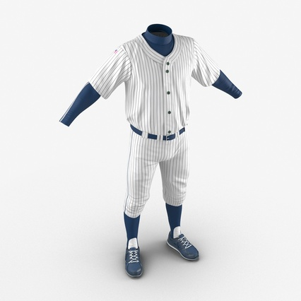 Baseball Player Outfit Generic 8. Render 10