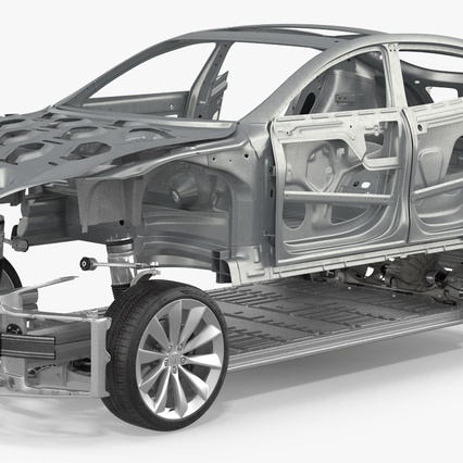 Tesla Model S Frame and Chassis. Render 13
