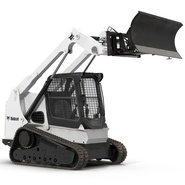 Compact Tracked Loader Bobcat With Blade Rigged. Preview 2