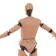 Male Crash Test Dummy Rigged for Cinema 4D. Preview 19