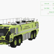 Oshkosh Striker 4500 Aircraft Rescue and Firefighting Vehicle Rigged. Preview 4