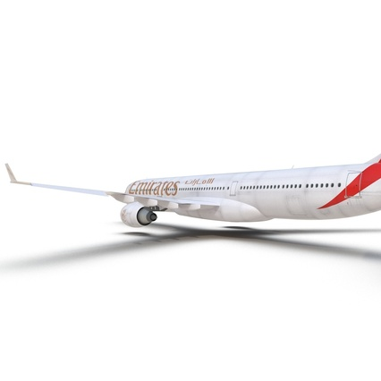 Jet Airliner Airbus A330-300 Emirates Rigged. Render 40