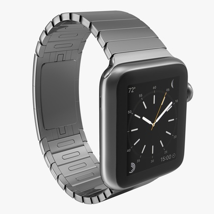 Apple Watch 38mm Link Bracelet Dark Space 2. Render 1