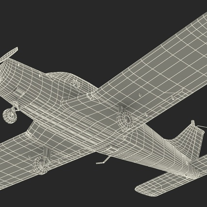 Piper PA-28-161 Cherokee Rigged. Render 29