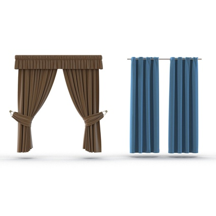 Curtains Collection. Render 13