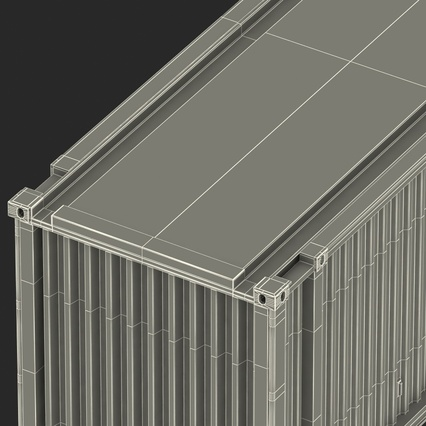 45 ft High Cube Container Blue. Render 42