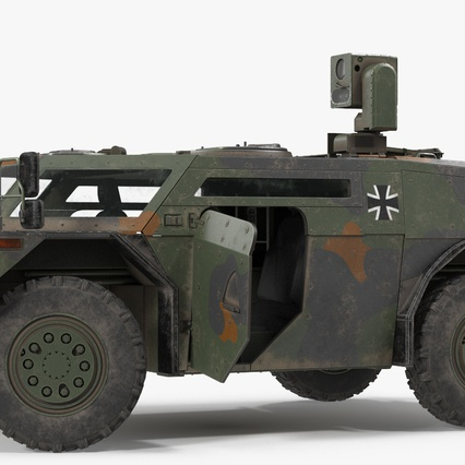 Fennek German Reconnaissance Vehicle Rigged. Render 10