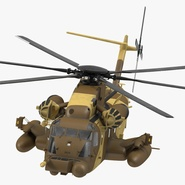 Combat Helicopter Sikorsky MH-53 Pave Low III Rigged