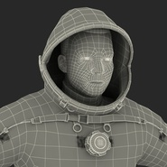Russian Astronaut Wearing Space Suit Sokol KV2 Rigged for Maya. Preview 60