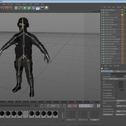 SWAT Man Mediterranean Rigged for Cinema 4D. Preview 42