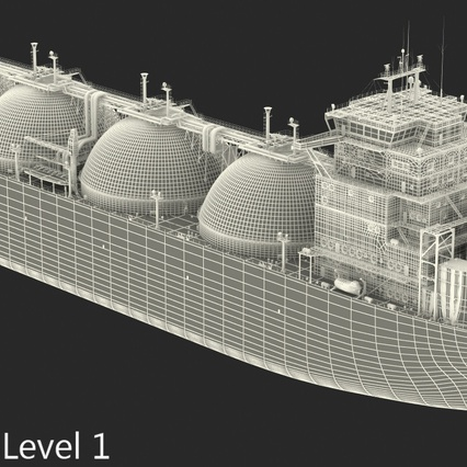 Gas Carrier Ship. Render 24