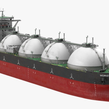 Gas Carrier Ship. Render 2