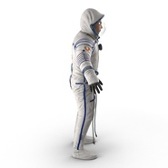 Russian Astronaut Wearing Space Suit Sokol KV2 Rigged for Maya. Preview 10