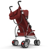 Baby Stroller Red. Preview 11