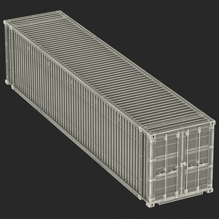 45 ft High Cube Container Blue. Render 38