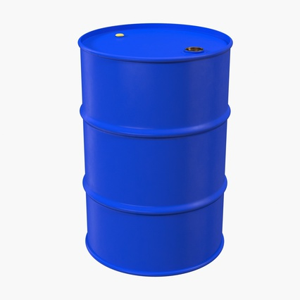 Oil Drum 200l Blue. Render 3