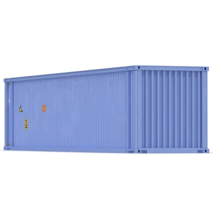 45 ft High Cube Container Blue. Render 9