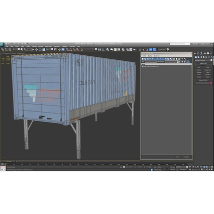 Swap Body Container ISO Blue. Render 25