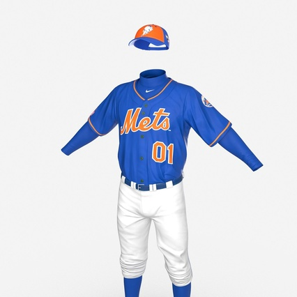 Baseball Player Outfit Mets 2. Render 15