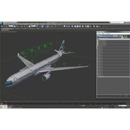 Jet Airliner Airbus A330-300 Cathay Pacific Rigged. Preview 46