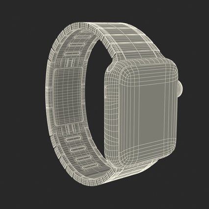 Apple Watch 38mm Link Bracelet Dark Space 2. Render 4