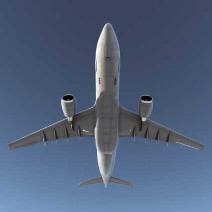 Jet Airliner Airbus A330-200 Northwest Airlines Rigged. Render 11
