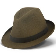 Fedora Hat Brown. Preview 3